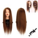 "New              24"" 100% Human Hair Practice Mannequin Head Hairdressing T"
