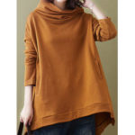 New              Pure Color Hooded Long Sleeve Casual Sweatshirt