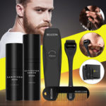 New              Men Oil Beard Mustache Growth Essential Oil Liquid + Beard Roller + Comb