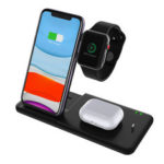 New              Bakeey 15W 4 in 1 Qi Wireless Charger Fast Charging Dock Stand with 27W Powers Adapter/USB Cable For Galaxy 10 for iPhone 11