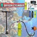 New              1L Portable Mini Oxygen Cylinder Air Oxygen Tank Breath Diving Underwater Oxygen Cylinder