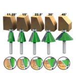 New              Drillpro 8mm Shank Chamfering Router Bit 11.25-45 Degree Milling Cutter for Woodworking