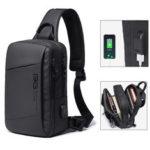 New              BANGE BG-22002 USB Shoulder Bag 9.7inch Laptop Bag Crossbody Bag Men Camping Travel Bag