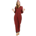 New              Striped Lattice Hooded Long Sleeve With Pocket Onesie