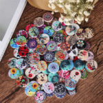 New              100 Pcs Round Wooden Buttons Decoration Sewing Buttons DIY Materials