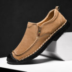 New              Men Casual Leather Soft Sole Flats