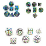 New              7 Pcs Alloy Polyhedral Dices Set Role Playing Game Accessory For Dungeons Dragons