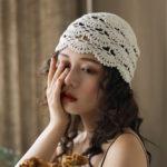 New              Hand-crocheted Beanie Hat Retro Literary Casual Turban Hat