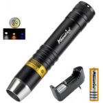 New              AloneFire SV370 XPG-2 200Lumens White+Yellow+365nm UV Light Waterproof LED Flashlight 18650 Flashlight