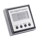 New              Drillpro Stainless Steel 360 Degree Mini Digital Protractor Inclinometer Electronic Level Box Magnetic Base Measuring Tools