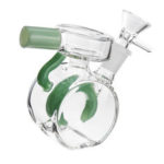 New              Mini Glass Water Pipes Mini Recycler