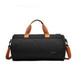 New              Canvas Wet Dry Separation Shoes Yoga Bag Sports Fitness Cylindrical Gym Bag Travel Luggage Shoulder Bag