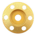 New              Drillpro 110mm Tungsten Carbide See Through Wood Shaping Disc Bevel Carving Disc with Hole 22mm Bore Sanding Grinder Wheel for 115 125 Angle Grinder