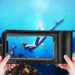 New              KUULAA IPX8 Waterproof Phone Pouch Screen Touch Underwater Swimming Diving PU+TPU Phone Bag for iPhone Huawei Xiaomi