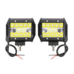 New              2PCS Tri Row 4Inch 60W LED Work Light Bars Combo Beam Driving Fog Lamp Pure White 6000K for Off Road Vehicle
