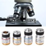 New              10X Metal Achromatic Objective Lens for Biological Microscope