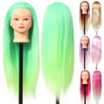 """New              27"""" Colorful Mannequin Head Hair Hairdressing Practice Trai"""
