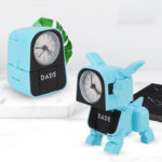New              Deformed Puppy Wake Up Clock Children's Alarm Clock Lovely Cartoon Table Clock