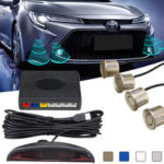 New              4 X Parking Sensor Car Reverse Backup Front and Rear Buzzer Alarm Parking System