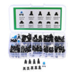 New              180Pcs 10 Values Tactile Push Button Switch Mini Momentary Tact Assortment Kit DIY
