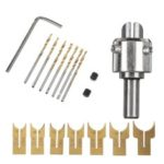 New              16pcs 14-25mm Wood Bead Maker Beads Drill Bit Milling Cutter Set Woodworking Tool