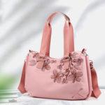 New              Women Embroidery Waterproof Handbag Crossbody Bag