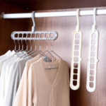New              Hanger Multi-port Support Circle Cloth Hanger Clothes Drying Racks Multifunction Plastic Scarf Clothes Hangers Storage Rack