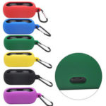 New              Bakeey Portable Shockproof Dirtyproof Silicone Wireless bluetooth Earphone Storage Case with Keychain for QCY T1