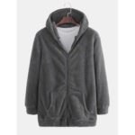 New              Men's New Explosion Models Plus Cashmere Hooded Fur Coats