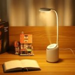 New              DIGOO DG-TD09 2W 280ML USB Charing Table Lamp Humidifier Bedroom Night Light 360° Adjustment Air Humidifier