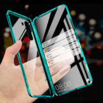 New              For Xiaomi Redmi Note 8T Case Bakeey 360º Curved Screen Front+Back Double-sided Full Body 9H Tempered Glass Metal Magnetic Adsorption Flip Protective Case