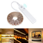 New              1M 2M 3M Battery Powered PIR Motion Sensor 2835 SMD LED Strip Light for Cabinet Kitchen Bedroom