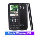New              MFU M670 2.4 Inch 1000mAh FM With Magic Voice Flashlight Lound Speaker Dual SIM Card Dual Standby Feature Phone