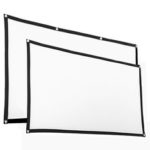 New              60/120 Inch Portable Foldable Projector Screen 16:9 HD Home Cinema Theater Outdoor
