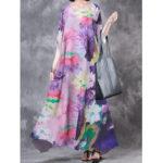 New              Loose Print Floral Maxi Dress