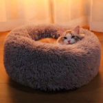 New              40-100cm Pet Supplies Kennel Round Plush Pet Nest Padded Soft Warm For Cat Bed Mat Pad