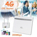 New              4G LTE CPE Router WiFi Wireless Repeater Hotspot Sim Card Modem Dual Antenna Car