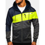 New              Men's Sports And Fitness Leisure Jacquard Cardigan Hooded Ja