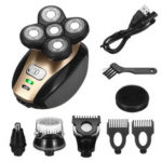 New              USB 5 IN 1 4D Rotary Electric Shaver Rechargeable Bald Head Shaver Beard Trimmer
