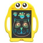 New              8.5 Inch Cartoon Writing Pad Tablet LCD Kid Drawing Board Yellow