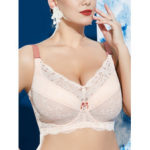 New              Lace Full Coverage Plus Size Hollow Push Up Gather Bra