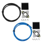 New              Nema17 Stepper Motor Vibration Shock Absorber Damper + Black/Blue/Red/Yellow PTEF Tube + Black Heatsink for 3D Printer