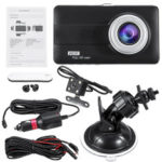 New              4 Inch HD 1080P Dual Lens Car DVR Front and Rear Camera Video Dash Cam Recorder