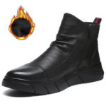 New              Synthetic Leather Warm Slip Resistant Ankle Boots