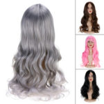 New              Women Wig Full Wavy Hair Extensions Heat Resistant Synthetic