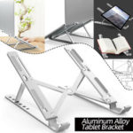 New              Aluminum Alloy Tablet Bracket Mount Foldable Portable Laptop Stand Holder Rack Pad Holder