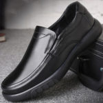 New              Men Genuine Leather Soft Flats