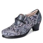 New              SOCOFY Women Retro Genuine Leather Slip Resistant Pumps