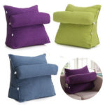 New              Adjustable Pearl Wool Back Wedge Pillow Reading Bedrest Rest Support Thwartwise Pain Relief  Cushion