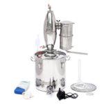 New              30L Stainless Steel Alcohol Distiller Brew Kit Distillation Purifying Alcohol Brewing Alcohol Making Boiler
